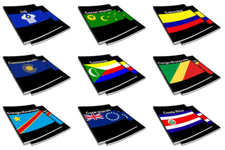 commonwealth: Part of the collection series of flags of the world printed on a paperback books