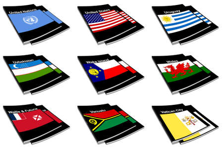 paperback: Part of the collection series of flags of the world printed on a paperback books