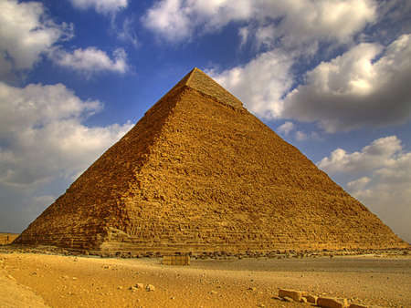egyptian pyramids: one of the great pyramids of giza in Egypt