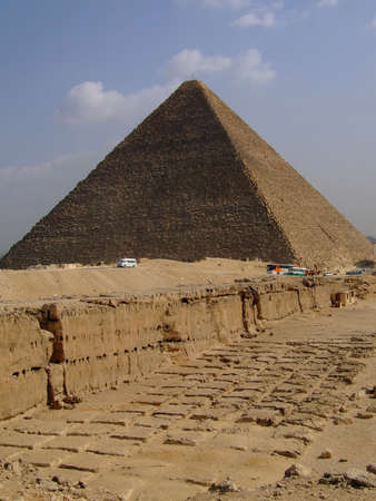 pharoah: one of the great pyramids of giza in Egypt