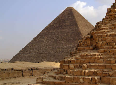 one of the great pyramids of giza in Egypt Stock Photo - 4439399