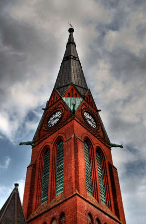 A high dynamic range image of a church spire. photo