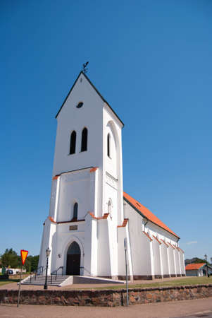 high priest: An image of a white church in the swedish town of Torekov.