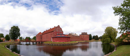 A panoramic image of the Landskrona citadel in the skane region of Sweden. photo