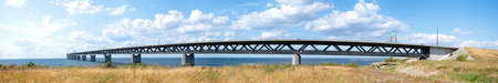 longest: A panoramic image of the oresundsbron the bridge that connects Sweden with Denmark and one of the longest of its kind in the world.