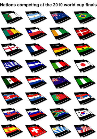 All of the nations competing at the 2010 FIFA world cup in south africa