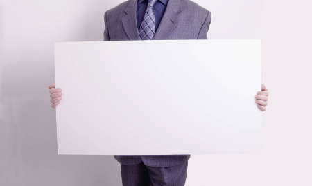 business man with blank card Stock Photo - 6423230