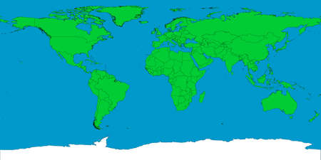 A map of the world showing all international borders of every country. photo