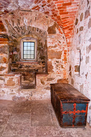 An interior image of the medieval glimmingehus castle in the skane region of Sweden. photo
