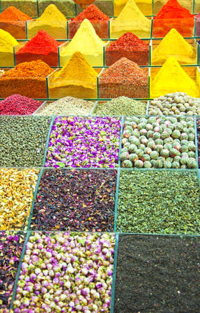The colourful and aromatic egyptian spice market that is situated in the turkish city of istanbul. photo