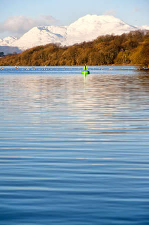 A view of the majestic and impressive ben lomond from across loch lomond near the scottish town of balloch. Stock Photo - 9754652