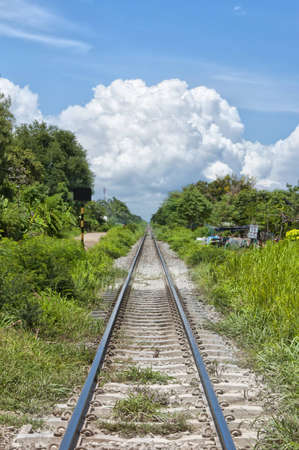 rapid steel: An old railroad in the Thai city of Hua Hin disappears into the distance.