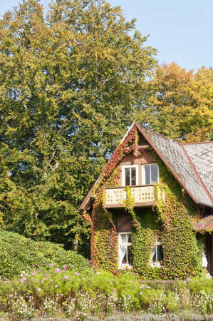 An ivy clad house situated at ramlosa brunnspark on the outskirts of Helsingborg in Sweden. Stock Photo - 10986255