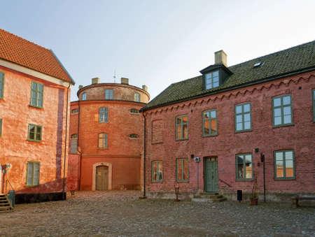 barracks: An image of the Landskrona citadel in the skane region of Sweden. Stock Photo