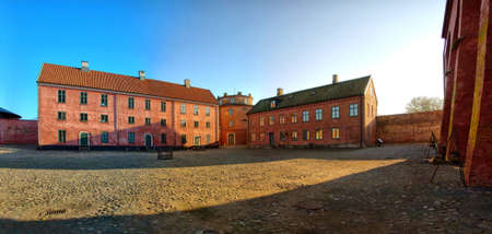 A Stitched Panorama of the Citadel at Landskrona in Sweden. photo