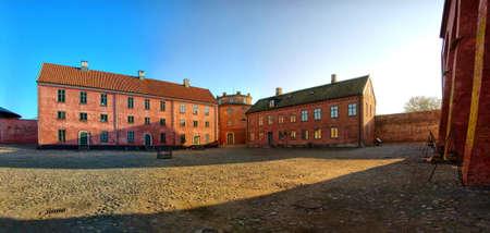 barracks: A Stitched Panorama of the Citadel at Landskrona in Sweden.