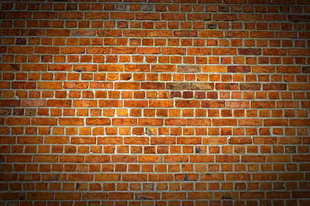 A typical view of a red brick wall texture for your designing needs. photo