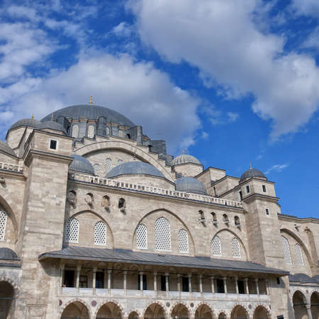 suleymaniye: A view of the majestic Suleiman Mosque in Istanbul, Turkey.