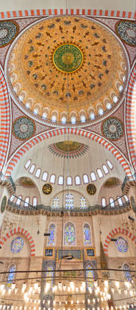 A view of the inter of the Suleiman mosque situated in the Turkish city of Istanbul. Stock Photo - 12079147