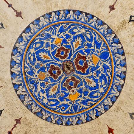 Un point de vue de l'intérieur de la mosquée Suleiman situé dans la ville turque d'Istanbul.