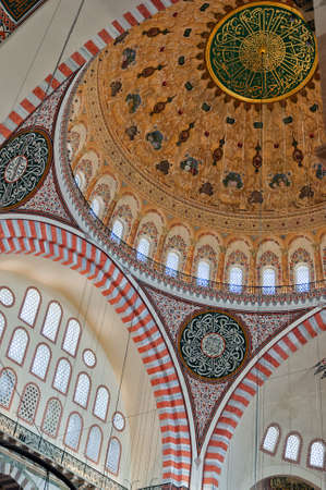 A view of the inter of the Suleiman mosque situated in the Turkish city of Istanbul. Stock Photo - 12079148