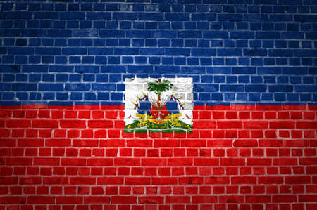 An image of the Haiti flag painted on a brick wall in an urban location Stock Photo - 12423000
