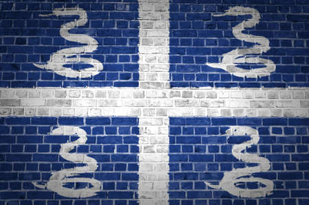An image of the Martinique flag painted on a brick wall in an urban location Stock Photo - 12422715
