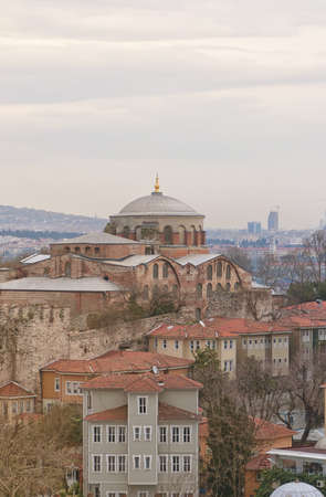 The old hagia irene mosque and museum thats situated in the turkish city of Istanbul. photo