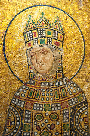 justinian: One of the mosaics that adorn the hagia sofia mosque that are indeed a work of art.