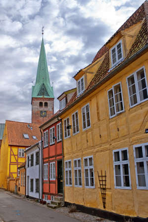 A view of the Danish town centre of Helsingor. Stock Photo - 12989586
