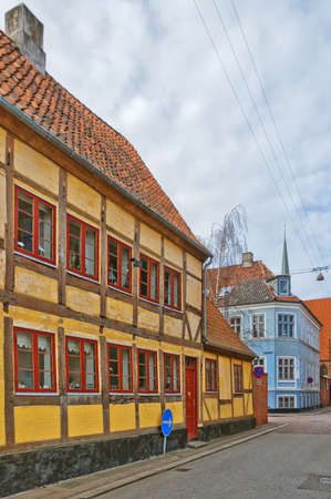 A view of the Danish town centre of Helsingor. photo