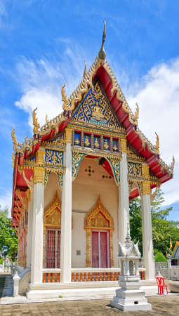 A buddhist temple situated in the city of Hua Hin in Thailand. photo