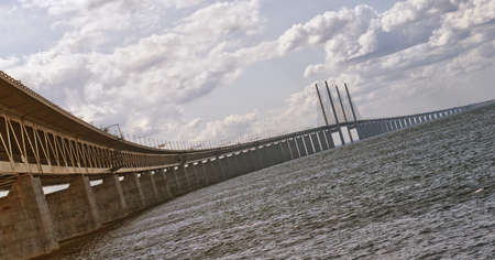 An image of the 'oresundsbron' the bridge that connects Sweden with Denmark and one of the longest of its kind in the world. Stock Photo - 13035468