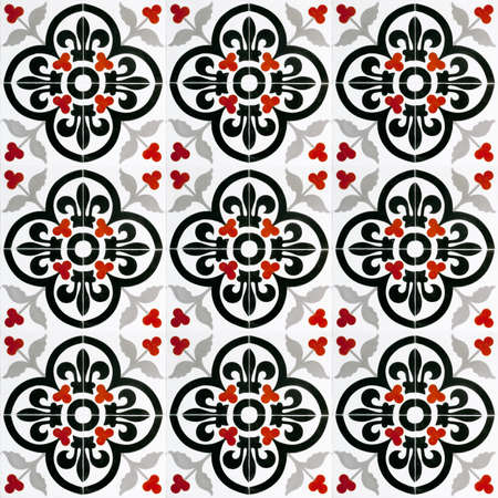 ceramic tiles: A seamless background image of patterned ceramic tiles for your design purposes.