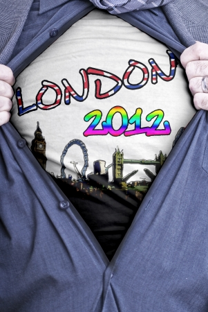 A concept image relating to the upcoming olympic games to be held in London this year Stock Photo - 13838317