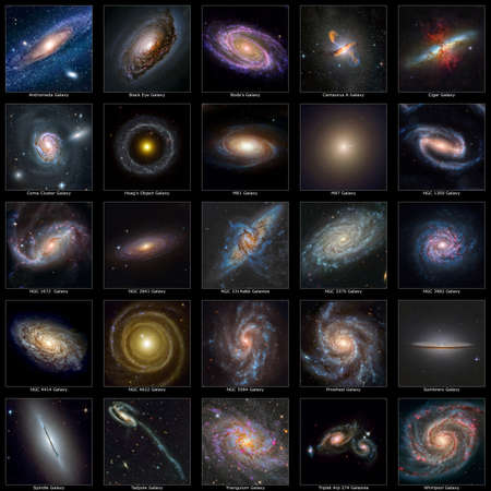 A collection of some of the wonderful galaxies in our universe. photo