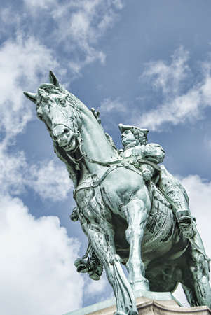 A statue of the famous swedish general Magnus Stenbock situated in the city of Helsingborg.
