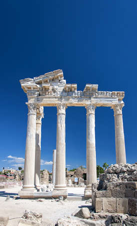 The Temple of Apollo situated in the Turkish town of Side  photo