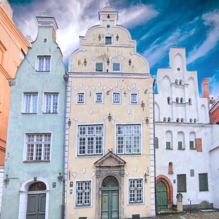 oldest: Three of the oldest buildings in the Latvian capital of Riga that are affectionately known as the three brothers  Editorial