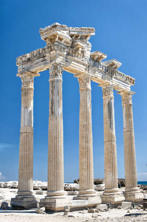 The Temple of Apollo situated in the Turkish town of Side