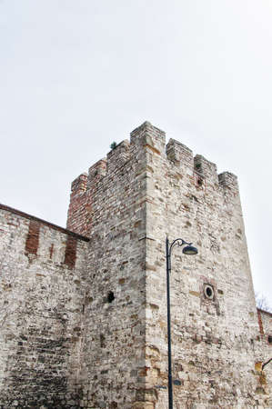 Istanbul's famous old city wall that protected the city throughout medieval times. Stock Photo - 17261614