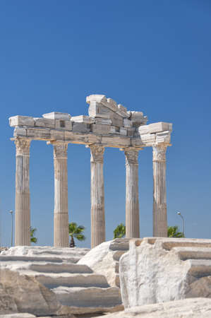 anatolia: The Temple of Apollo situated in the Turkish town of Side. Stock Photo
