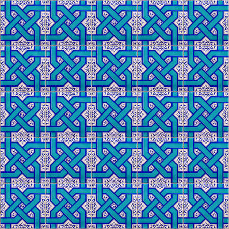 A seamless background image of islamic patterned ceramic tiles for your design purposes. Stock Photo - 17981023