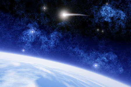 llegar tarde: Una ilustraci�n conceptial del Ison cometa que ser� visto por todos en el planeta a finales del a�o 2013, los cient�ficos dicen que el cometa podr�a brillar m�s que la luna llena.