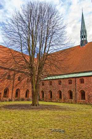 The Vor Frue kloster Saint Maria Church situated in the Danish town of Helsingor. photo