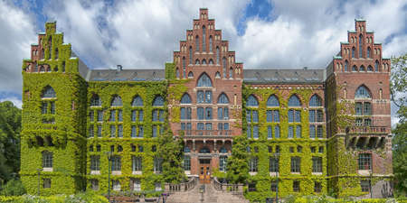 education in sweden: The ivy covered university library in the Swedish city of Lund.