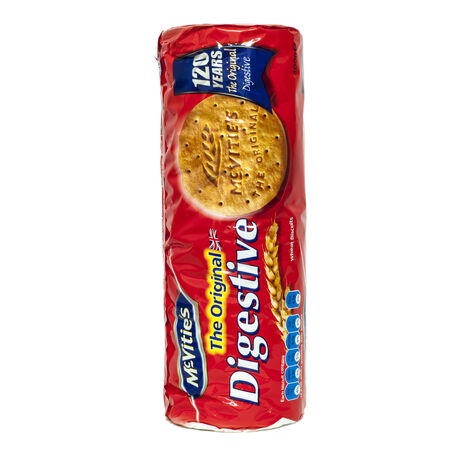 HELSINGBORG, SWEDEN - DECEMBER 29, 2013  A pack of McVities Digestives tea biscuits that commemorates the biscuit
