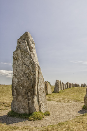 Swedens most famous standing stones is arranged in the shape of a boat and believed to be the resting place of King Ale.