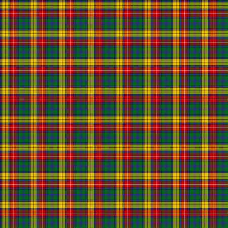 A seamless patterned tile of the clan Buchanan tartan. Stok Fotoğraf