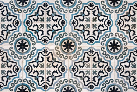 Ornate Ceramic Floor Tiles From A Property In Lerapetra Crete